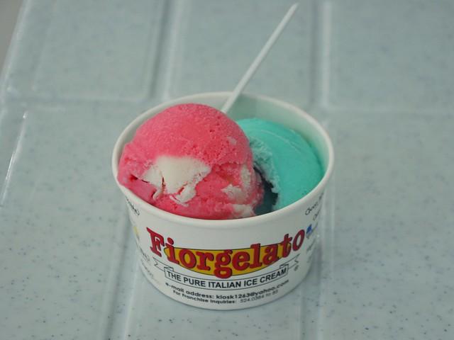 Raspberry and Bubble Gum Gelato