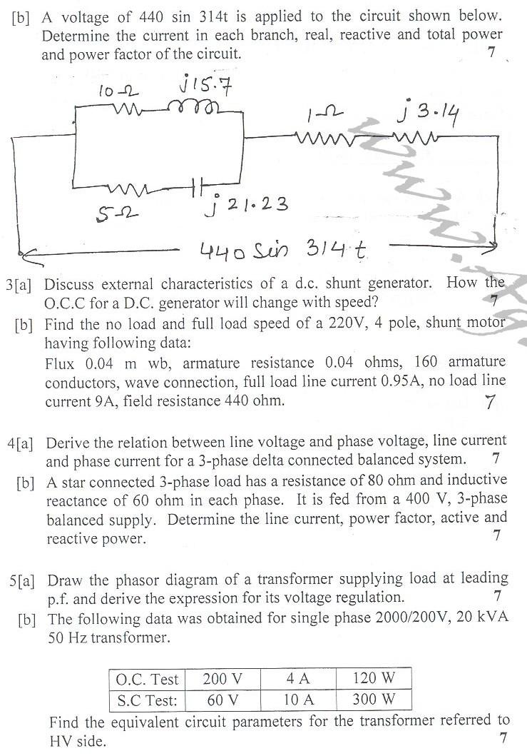DTU Question Papers 2010 – 2 Semester - End Sem - PT-111