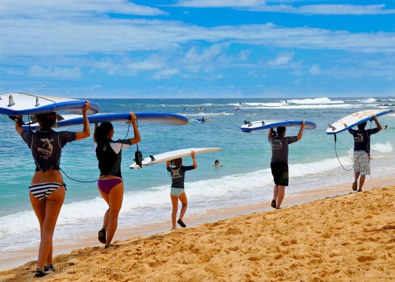 Gain a new skill at Kauai Surf School