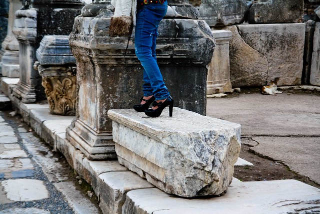 exactly the shoes I would choose for walking around some ruins.