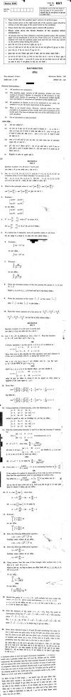 CBSE Class XII Previous Year Question Papers 2011: Mathematics