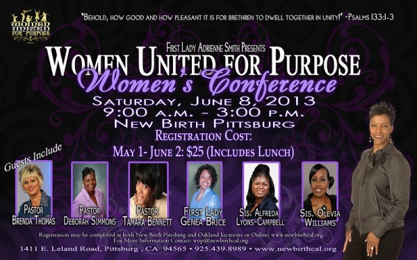Conference Time Women United For Purpose Conference!