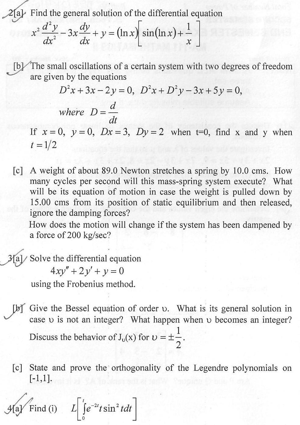 DTU Question Papers 2010 – 2 Semester - End Sem - MA-111
