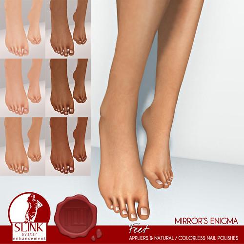 ME SLink Feet & Nail Previews