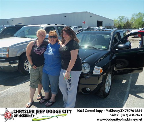 Dodge City of McKinney would like to say Congratulations to Charles Carmichael on the 2007 Jeep Compass by Dodge City McKinney Texas