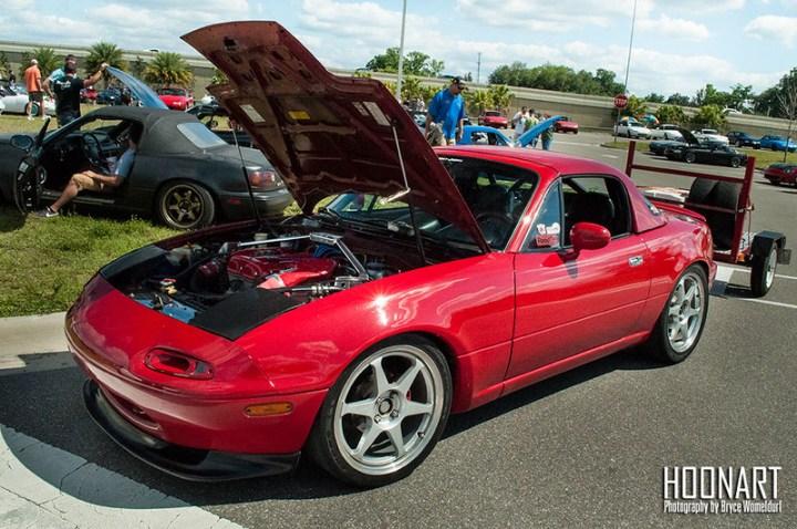 Red NA Miata track car
