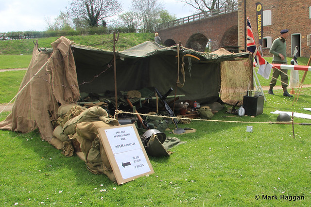 A Korean War display at Moira Furnace