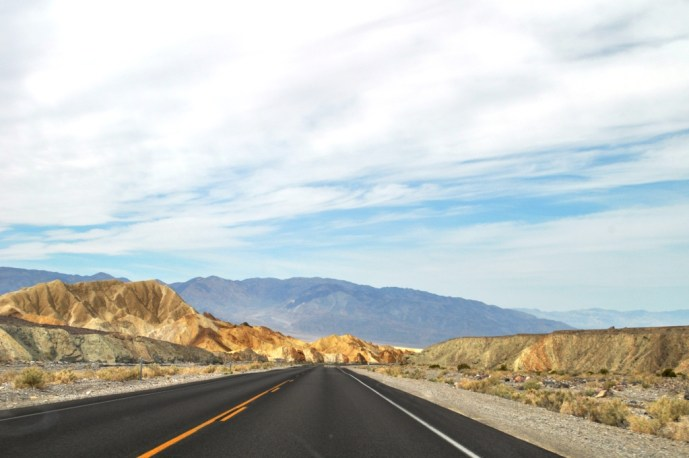Driving in Death Valley National Park, April 2013