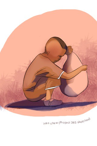 """Monkey Boy"" (#90: Project 365 Sketches)"