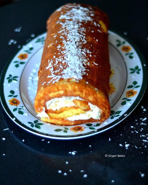Pina Colada Cake Roll