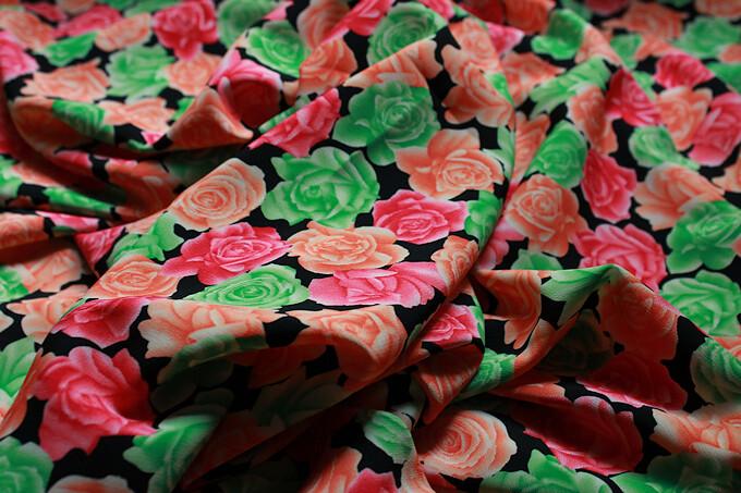 Vestidos florales telas flores