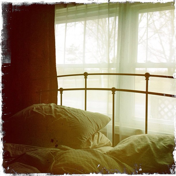 Apr 13 - view from my bed {looking out the window} #fmsphotoaday #hipstamatic