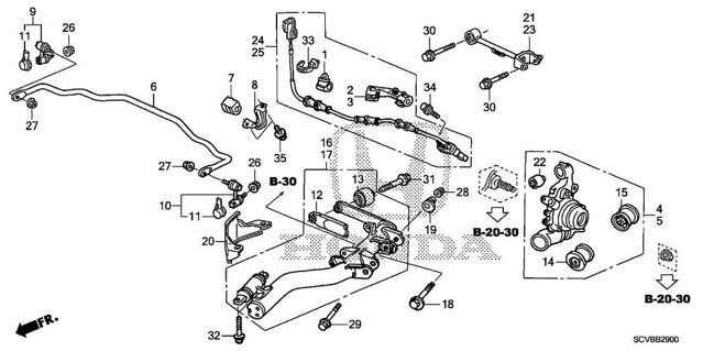 2003-2011 Genuine Honda Element Rear Sway Bar Rubber