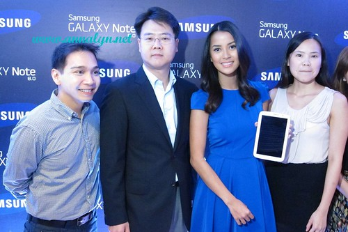 Bianca with Samsung officials