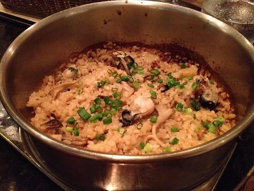 牡蠣と茸の炊き込みご飯@Me Chablis(ムシャブリ)
