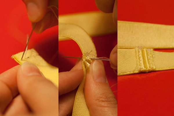 sewing the headband