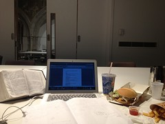 mis en place for writing a sermon on Colossians
