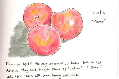 plums in april