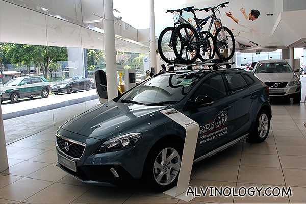 You can load bicycles on your Volvo