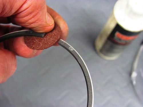 Removing Bur with Dremel Grinding Disk
