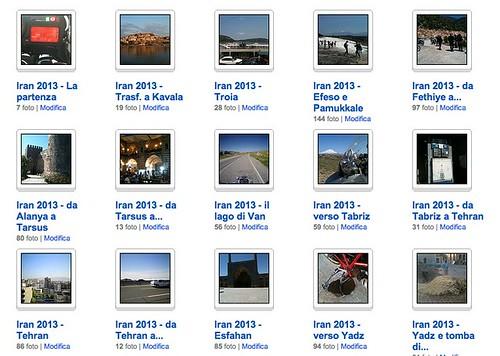 La raccolta di foto del viaggio da Roma a Dubai in moto