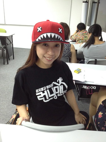 Singapore Lifestyle Blog, Korean lessons, Korean lessons in Singapore, nadnut, kingmeng, Running man, Running man t-shirt, Running man cap, Running man tags, Running man in Singapore
