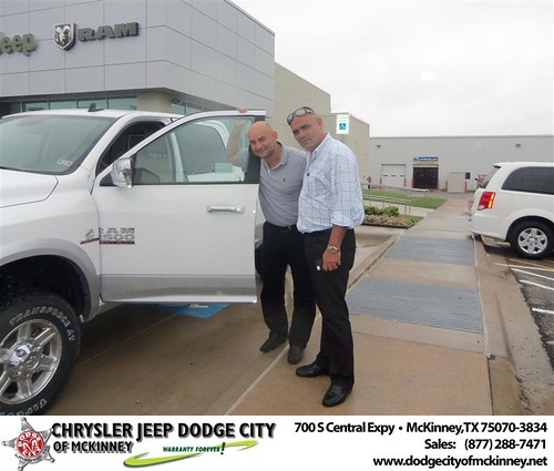 Dodge City of McKinney would like to say Dodge City of McKinney would like to say Congratulations to Omar Doporto on the 2013 Dodge Ram by Dodge City McKinney Texas