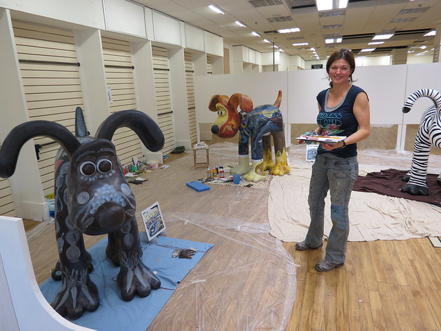Laura Cramer and her Gromits