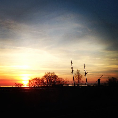 Yesterday's sunrise over Lake Ontario.