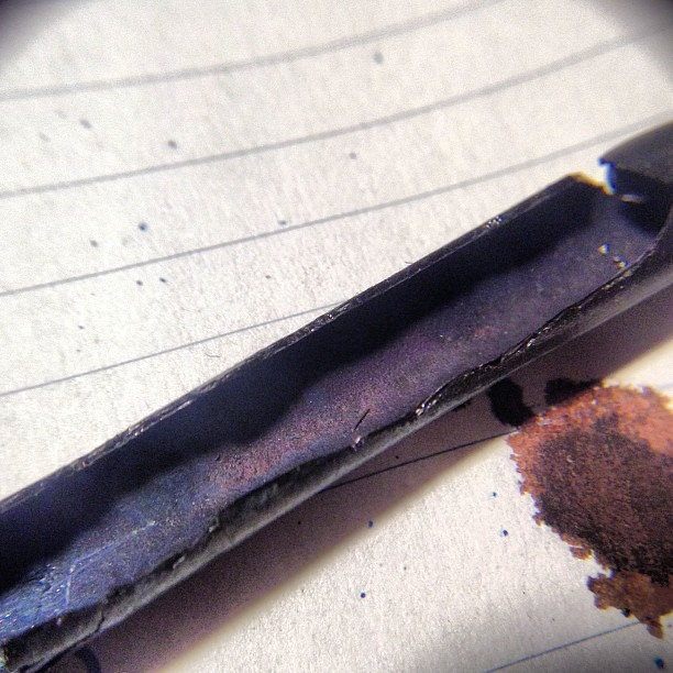 Close up of old ossified Esterbrook #fountainpen sac