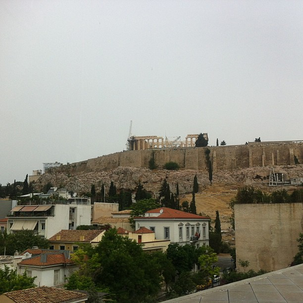 View of Parthenon from the Acropolis Museum