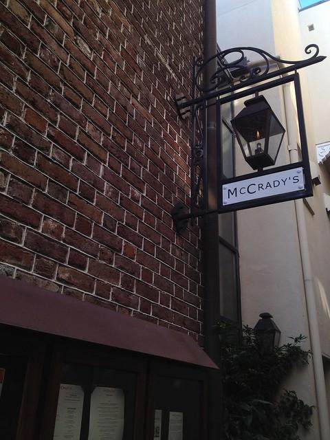 McCrady's sign