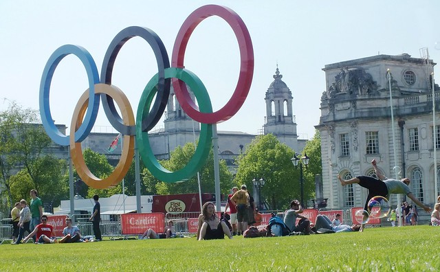 Olympic Event in Cathays park