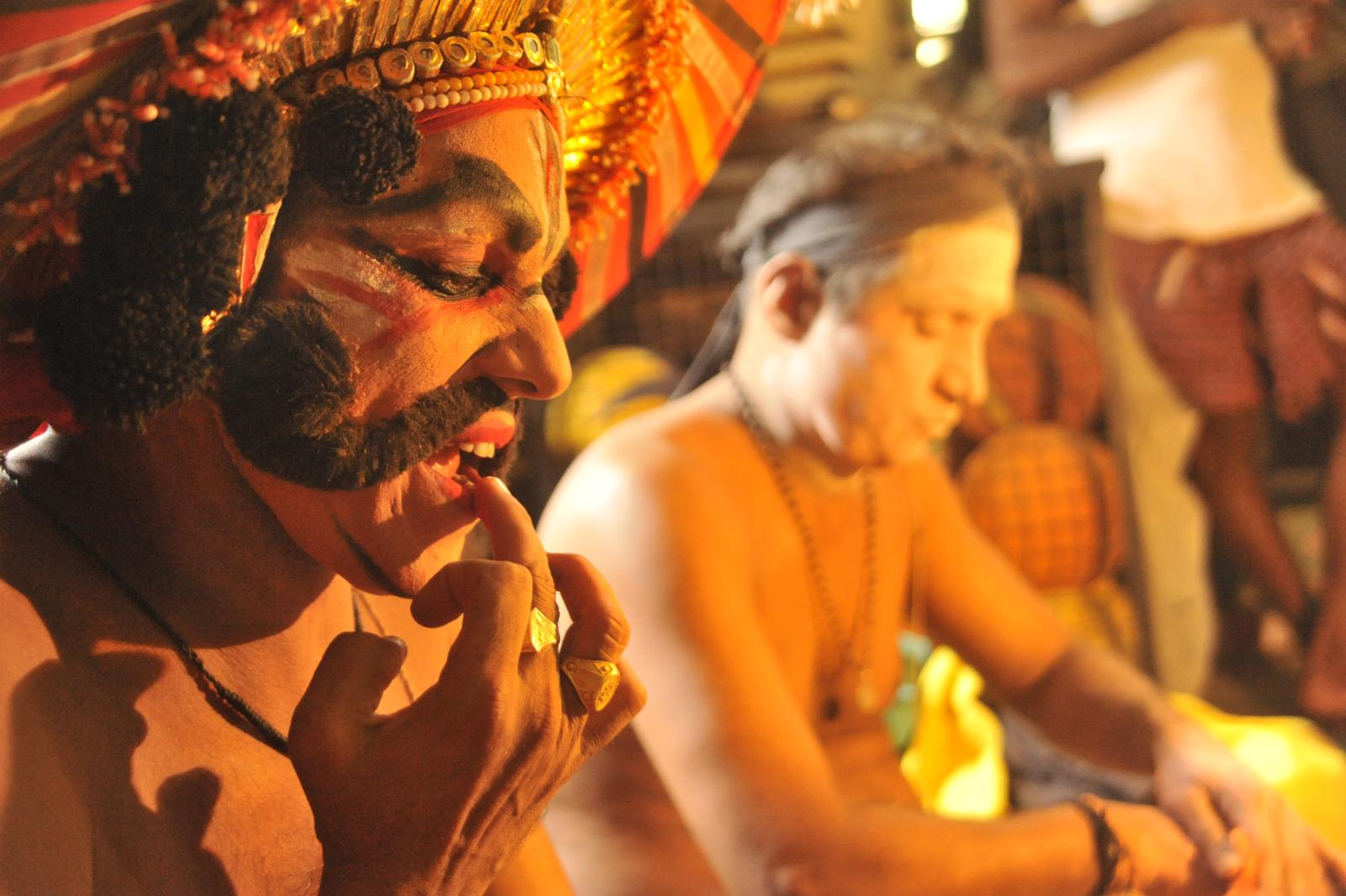 Elaborae make-up. Yakshagana, Kichaka Vadha