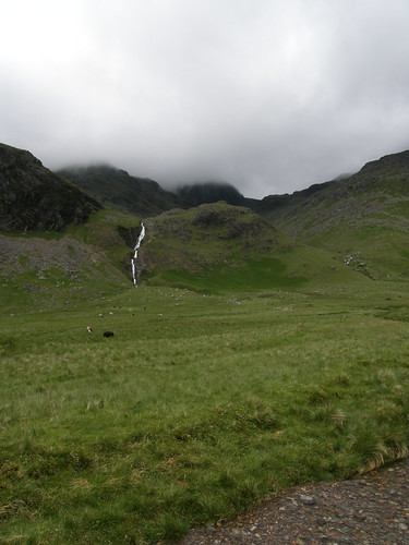 How Beck waterfalls, looking up to Mickledore