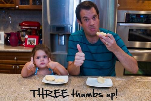 three thumbs up!