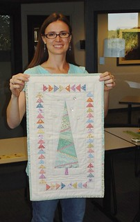 Me in 2011 teaching at the AAQG's gift of quilting