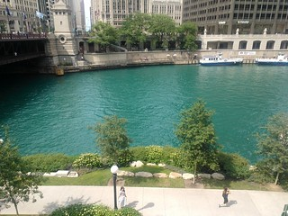 Chicago river got its green swag on.