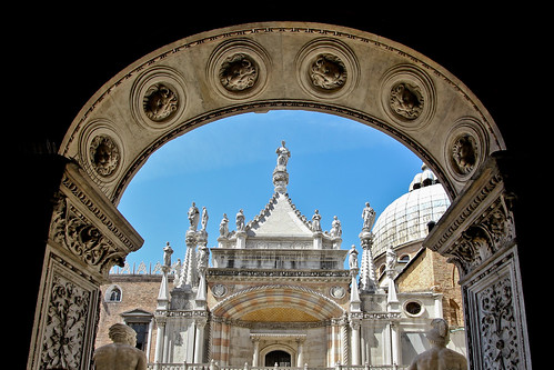 Top of Giants' Staircase, Doge's Palace, Venice