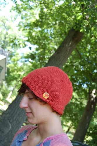 a hat of his own making