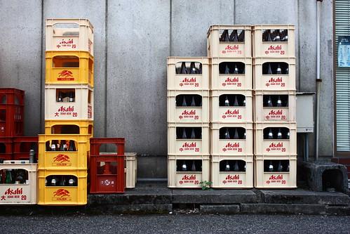 Asahi crates