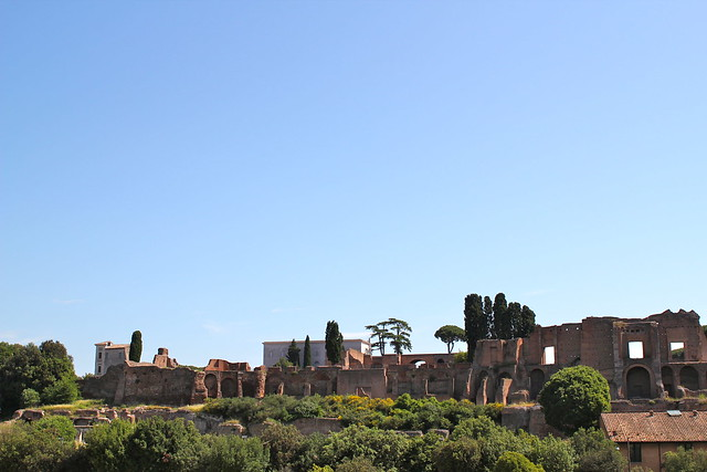 View of the forum across the Circo Massimo