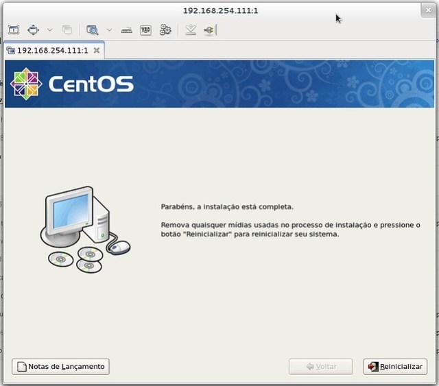 Instalação CentOS por VNC