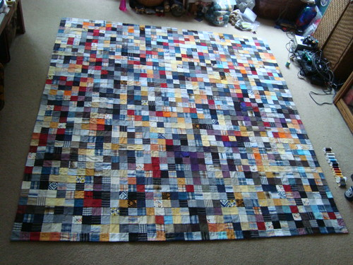 Postage stamp ready for quilting