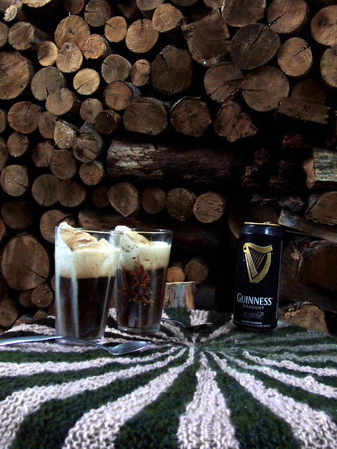 Guinness coffee ice cream float