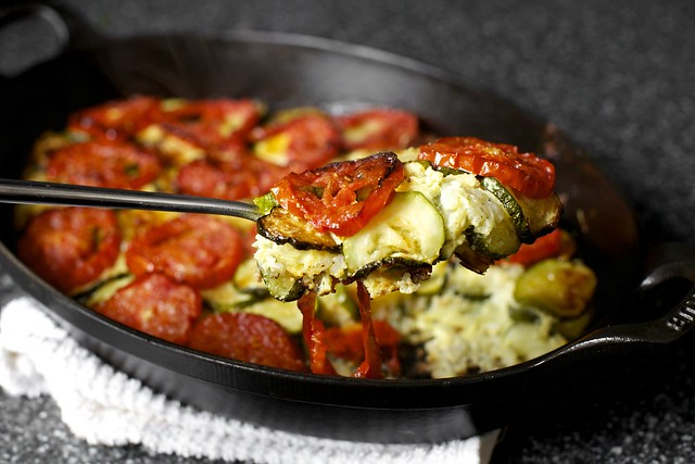 zucchini rice gratin