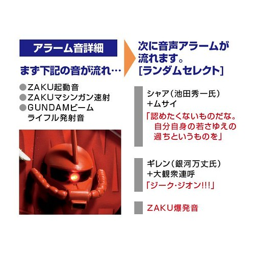 Zeon Themed Gundam Lightup Analog Clock (3)