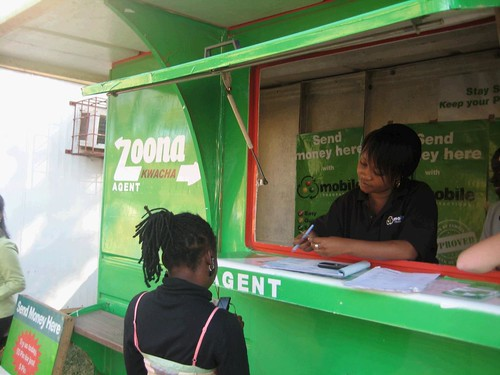 "3. Mobile Transactions Zoona Kwaha Agents provide individuals with the ability to send and collect payments via their mobile phones. In 2011, Mobile Transactions was named ""Best Mobile Money Start-Up in Africa"" by Mobile Money Africa. (Photo by Sara Tay"