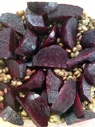 Beetroot and lentils