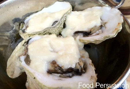 Truffle baked oysters